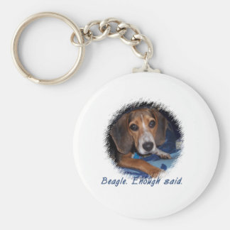 Beagle Puppy With Attitude - Custom Background Key Chain