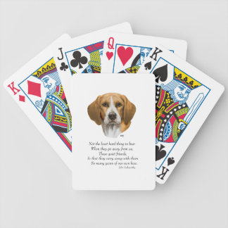 Beagle Rainbow Bridge Bicycle Playing Cards