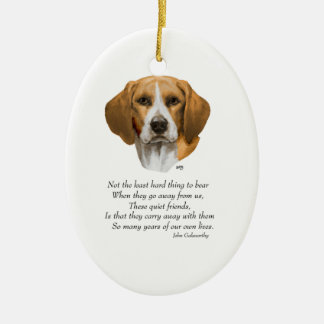 Beagle Rainbow Bridge Ceramic Ornament