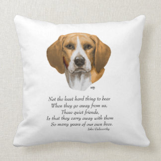 Beagle Rainbow Bridge Throw Pillow