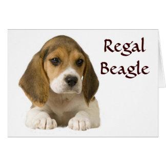 Beagle Regal Card
