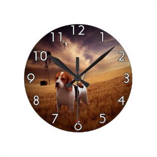 Beagle Round Clock
