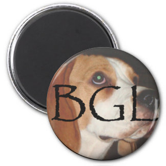 beagle round magnet