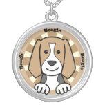 Beagle Round Pendant Necklace