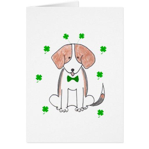 Beagle Saint Patricks Day Greeting Card