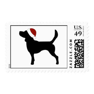 Beagle Santa Hat Postage