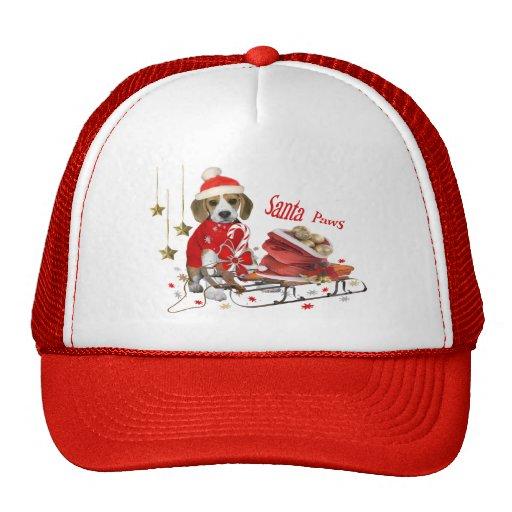 Beagle Santa y regalos de los amigos Gorro De Camionero