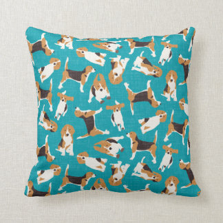 beagle scatter blue pillows