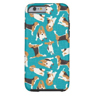 beagle scatter blue tough iPhone 6 case