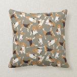 beagle scatter stone throw pillow