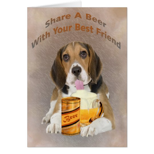 Beagle Shares A Beer Card
