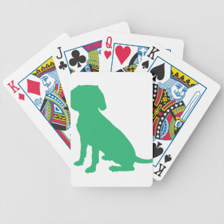 Beagle Silhouette Bicycle Playing Cards