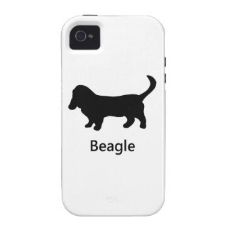 Beagle Silhouette Vibe iPhone 4 Covers