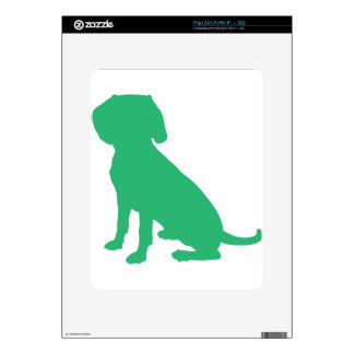 Beagle Silhouette Decal For The iPad