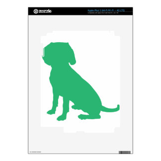 Beagle Silhouette iPad 3 Decal