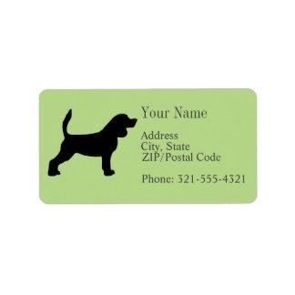 Beagle Silhouette Label