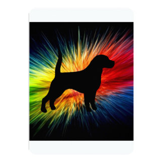 beagle silhouette on rainbow burst.png card