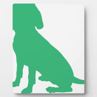 Beagle Silhouette Plaque