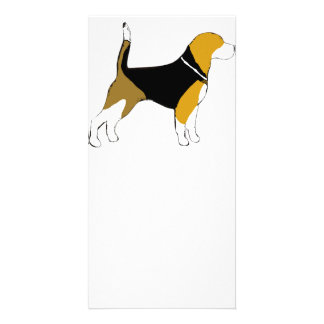 Beagle silhouette.png photo card