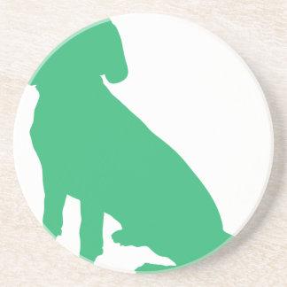 Beagle Silhouette Sandstone Coaster