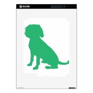 Beagle Silhouette Skin For iPad 2