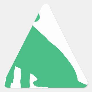 Beagle Silhouette Triangle Sticker