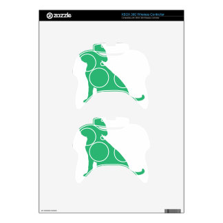 Beagle Silhouette Xbox 360 Controller Skins