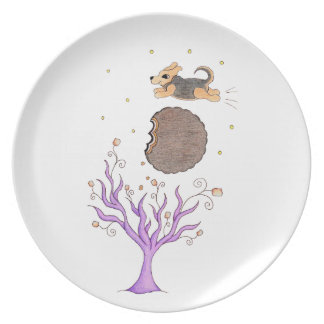 Beagle sobre la luna platos para fiestas