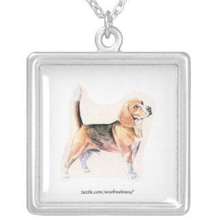 Beagle Square Pendant Necklace