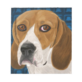 Beagle Staring Directly at You - Digital Paint Notepad
