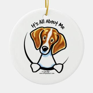 Beagle su todo alrededor yo IAAM Adorno Navideño Redondo De Cerámica