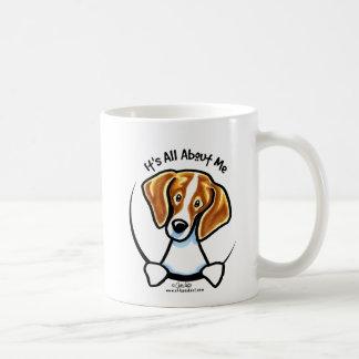 Beagle su todo alrededor yo IAAM Taza Básica Blanca