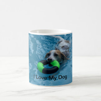 Beagle Swimming in Pool Mug