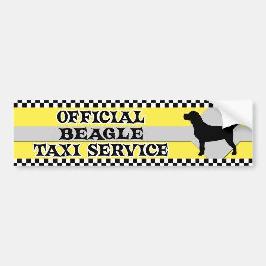 Beagle Taxi Service Bumper Sticker