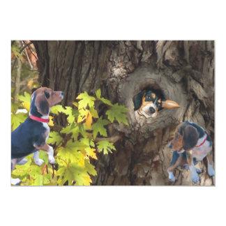 "Beagle Tree House Invitations 5"" X 7"" Invitation Card"