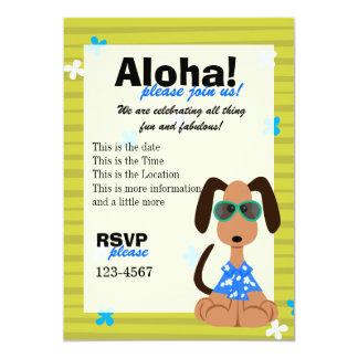 """Beagle tropical invitación 5"""" x 7"""""""