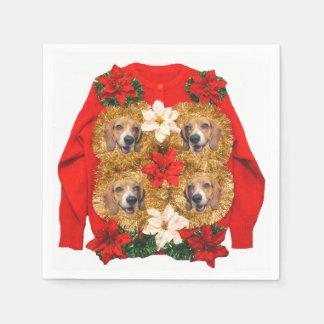Beagle Ugly Christmas Sweater Napkin