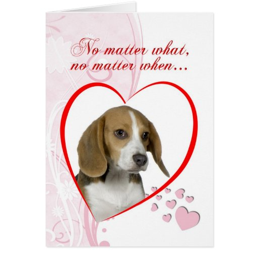 Beagle Valentine Card
