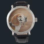 "Beagle Vintage Leather Strap Watch, Black Leather Watch<br><div class=""desc"">Beagle Vintage Leather Strap Watch,  Black Leather</div>"