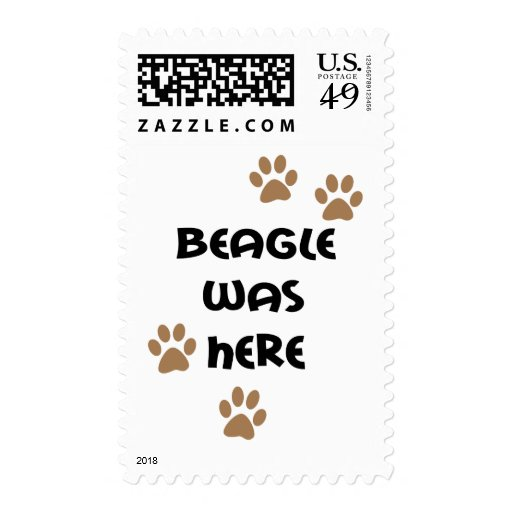 Beagle Was Here Stamps