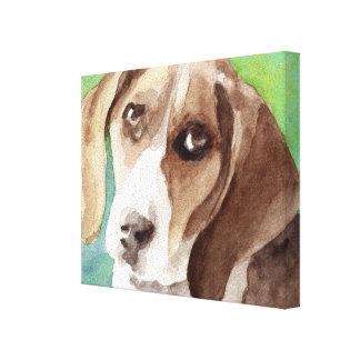Beagle Watercolor Canvas Print
