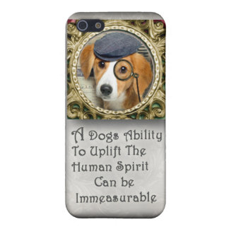 Beagle With British Hat Dog Quote Case
