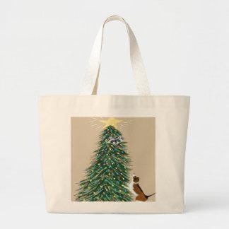 Beagle With Treed Raccoon Canvas Bag