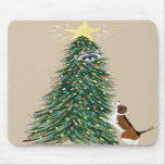 Beagle With Treed Raccoon Mousepads