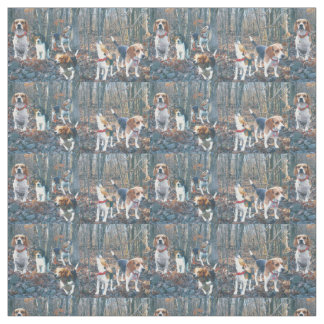Beagle Woodland Fabric to Howl About