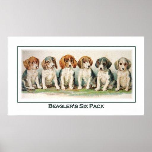 Beagler's  Six Pack Poster