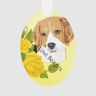 Beagles and Yellow Roses