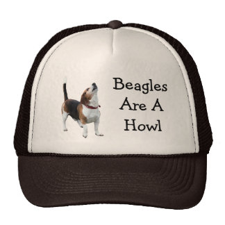Beagles Are A Howl Funny Dog Hat