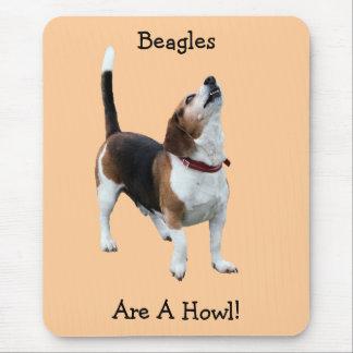 Beagles Are A Howl Funny Dog Mousepad