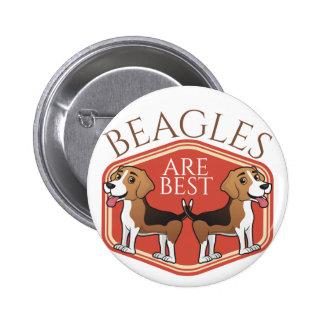 Beagles are Best 2 Inch Round Button